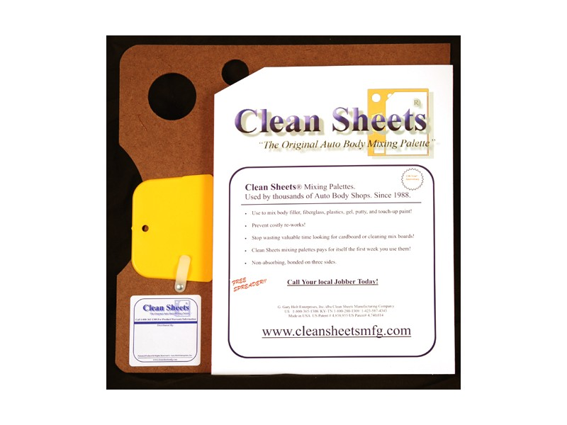 Clean Sheets Bondo Board Mixing Pallette Removable Sheets