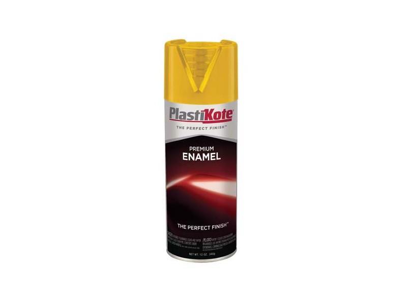 plasti kote premium enamel spray paint sticker yellow t 26. Black Bedroom Furniture Sets. Home Design Ideas